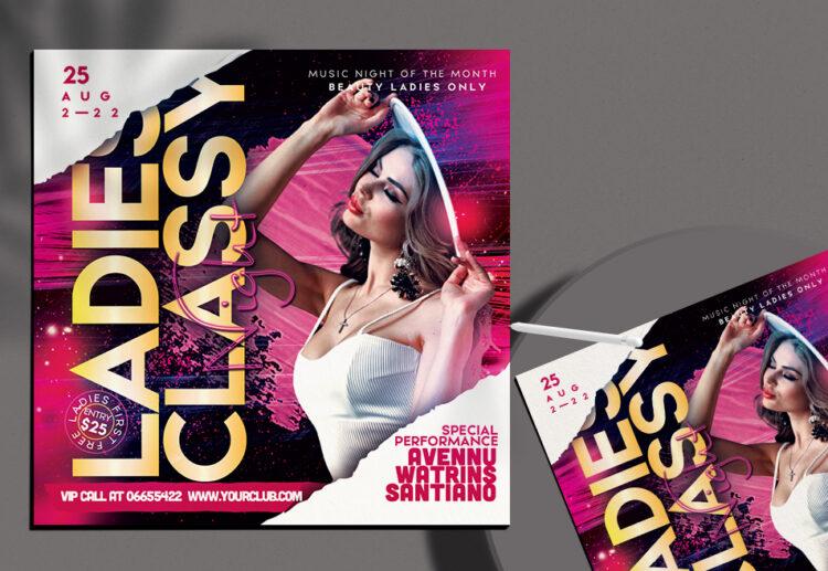 Ladies Classy Night Flyer Free PSD Template