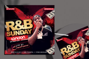 R&B Club Party Flyer Free PSD Template