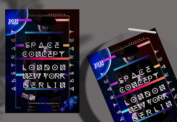 Space Concept vol.02 Flyer Free PSD Template