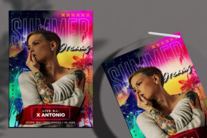 Summer Color Flyer Free PSD Template