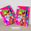 Abstract Club Party Flyer PSD Template
