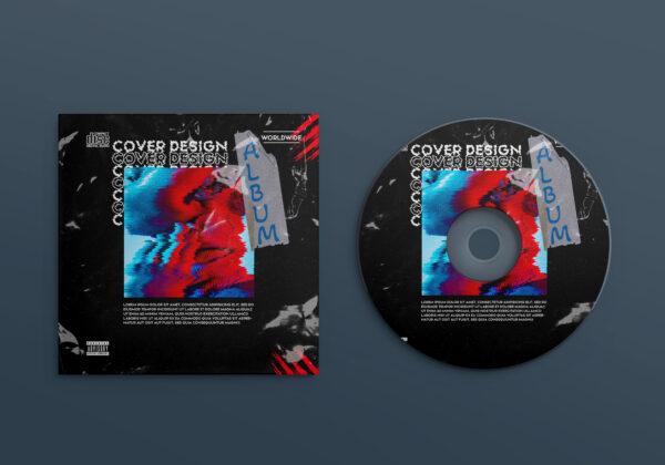 Album Cover Design PSD Template