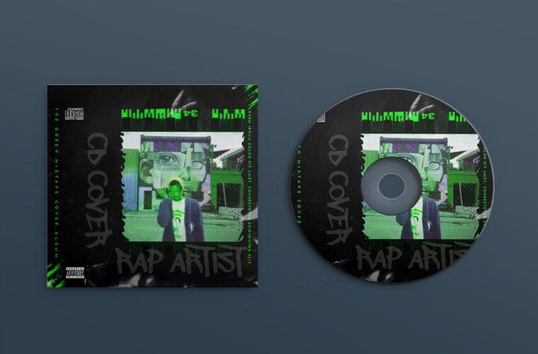 Artist Album Cover Design PSD Template