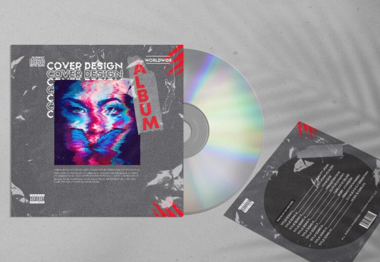 CD Cover Album Design Free PSD Template