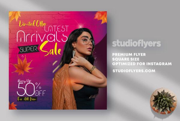 Latest Arrivals Sale Flyer PSD Template