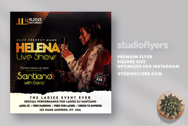 Live Music Night PSD Flyer Template