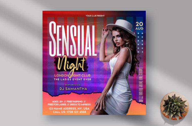 Sensual Night Ladies Event Instagram Banner PSD Template