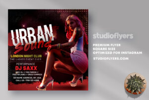 Urban Sound Club Party Flyer PSD Template