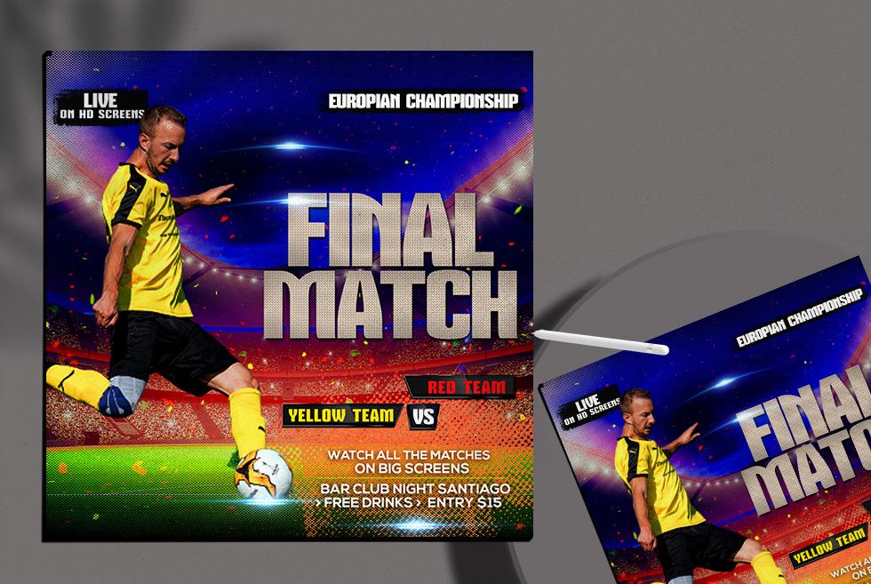 Final Match Free Instagram Banner PSD Template