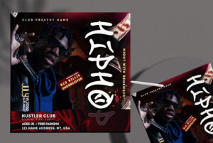 Hip Hop Event Free Instagram Banner PSD Template
