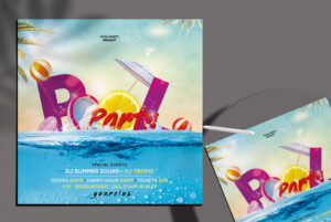 Pool Party 2021 Flyer Free PSD Template