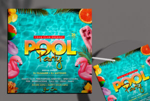 Pool Party Instagram Banner PSD Template