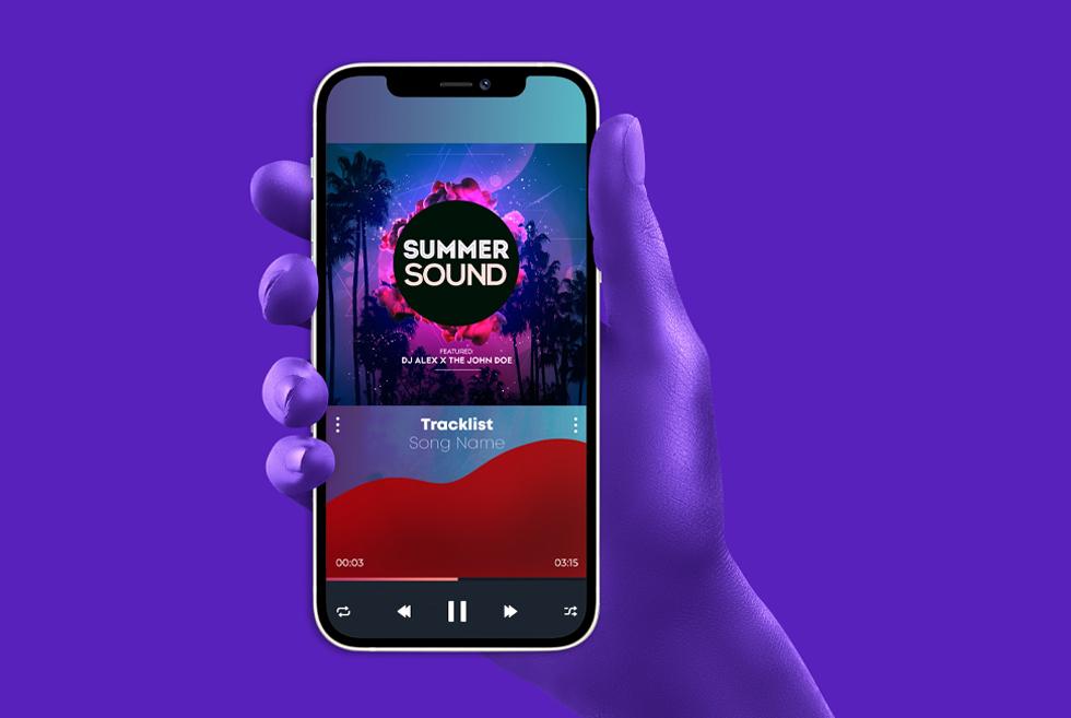 Summer Sound Music Player Cover Art PSD