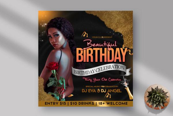 Birthday Celebration Instagram Banner PSD