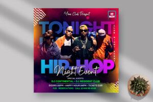 Hip Hop Night Event Instagram Banner PSD