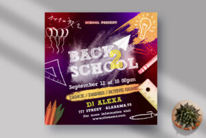 Back To School Instagram Banner PSD Template
