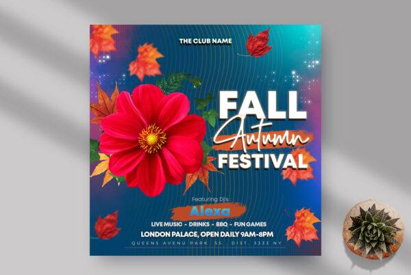 Fall Autumn Festival Instagram Banner PSD Template