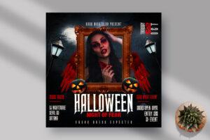 Halloween Night Instagram Banner PSD Template