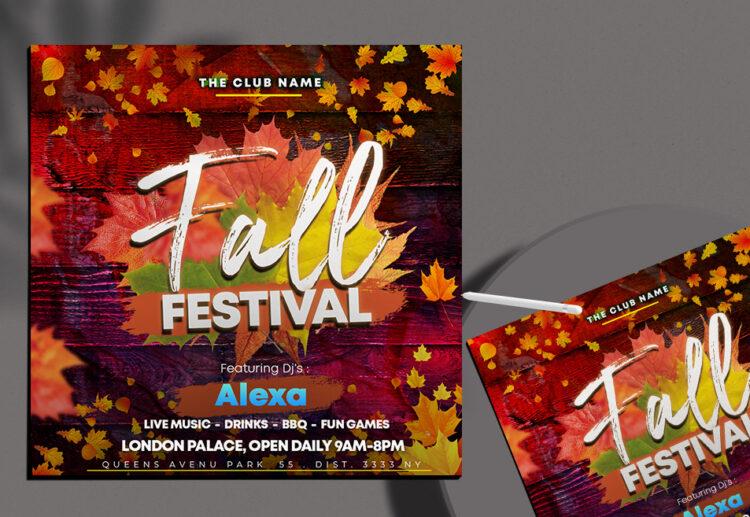 Fall Festival Instagram Banner Free PSD Template