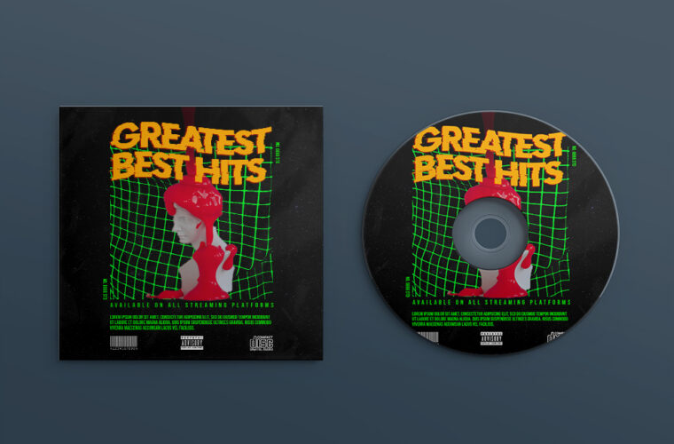 Greatest Best Hits Cover Design PSD Template