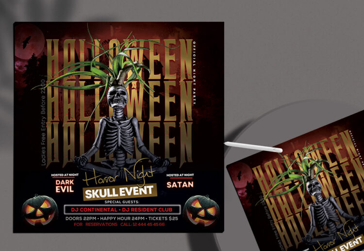 Halloween Night Party Free PSD Flyer Template