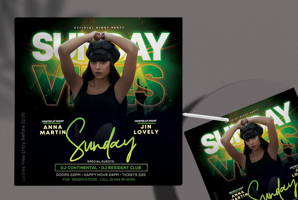 Sunday Event Free Flyer PSD Template