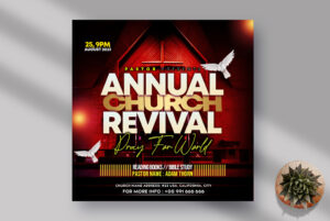 Annual Church Revival Instagram Banner PSD Template