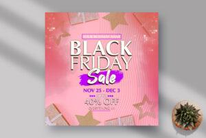 Black Friday Sale Instagram Banner PSD Template