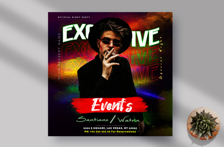 Exclusive Events Instagram Banner PSD Template