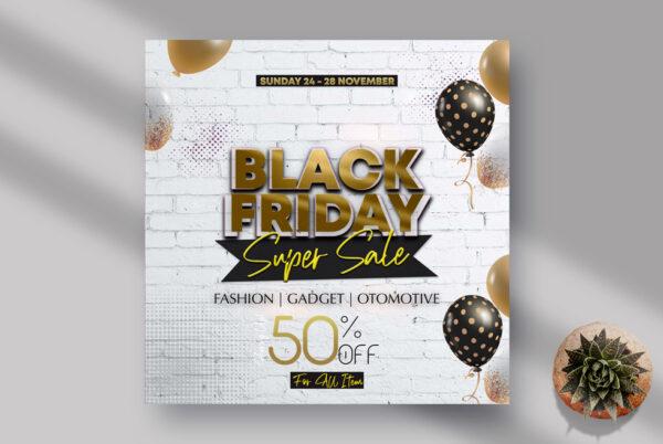 Fashion Sale Black Friday Instagram Banner PSD Template