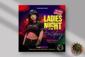 Fridays Ladies Night Instagram Banner PSD Template