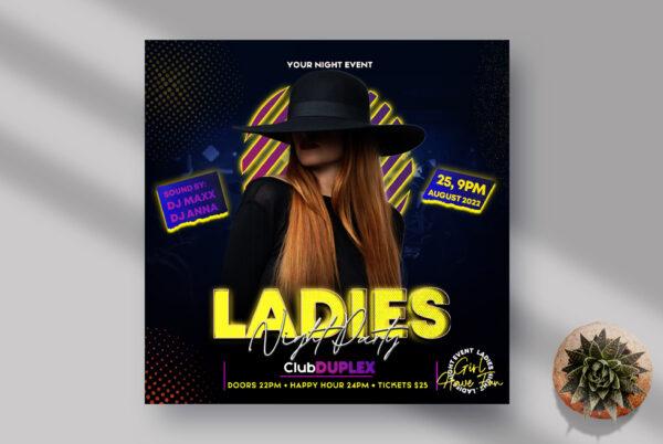 Ladies Night Instagram Banner PSD Template