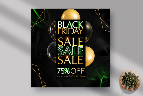 Sale Black Friday Store Instagram Banner PSD Template