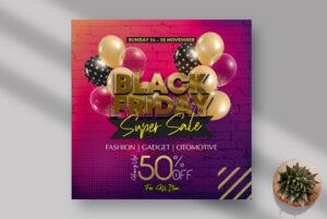 Black Fridays Sale Instagram Banner PSD Template